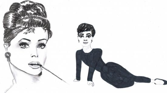 Audrey Hepburn par Leena